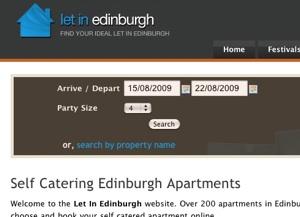Let in Edinburgh, Date Picker