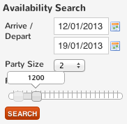 availability search price slider