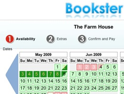 Bookster Booking Screens